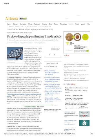 Un gioco di specchi per rilanciare il made in Italy - Corriere